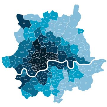 London IT Support Coverage Areas