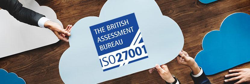 Serviced Cloud is ISO27001 accredited